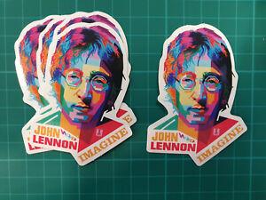 JOHN LENNON IMAGINE style sticker PACK OF 5 laptop Bumper Decal Band Rock Vinyl