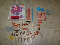 Marx & Mattel Toy Circus Partial Set 1972 Ringling Bros PLay Set Figure Lot