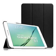 """CUSTODIA SMART COVER Integrale SUPPORTO per Samsung Galaxy TAB S2 9.7"""" T815 Nera"""