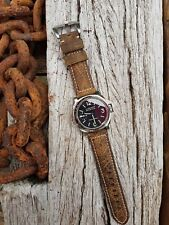 'Vintage Marbled' Italian Brown Calf Leather Watch Strap for Panerai - 24mm