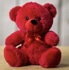 "9"" Red Plush Teddy Bear Stuffed Animal Toy Gift New PLUSH IN A RUSH"