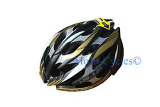 Lazer Helium Black Gold Silver Carbon Helmet XXS-S 20.09-22.06 inches New