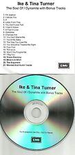 IKE & TINA TURNER Soul of / Dynamite w/ BONUS TRX ADVNCE PROMO DJ TST PRESS CD