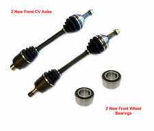 2 New CV Axles + 2 Front Wheel Bearings Fit 01-94 Acura Integra GS LS RS Type R