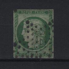 """FRANCE STAMP TIMBRE N° 2 b """" CERES 15c VERT FONCE 1850 """" OBLITERE SIGNE  R557"""