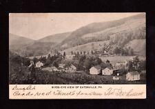 Postcard Eatonville Pa Birds Eye View Near Tunkhannock Wyoming County