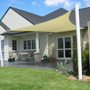 Sonnensegel Sonnenschutz Regenschutz in Rechteck 4x3 m 100%Polyester