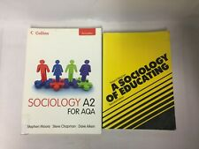 2x Sociology Books A2 for AQA A Sociology of Educating Second Edition
