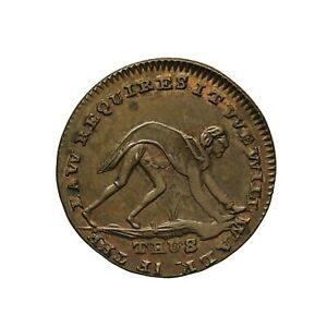Middlesex Spence's Farthing Token Man on All Fours / Rouse Britannia D&H 1099 R