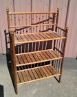 Antique Victorian Stick and Ball Bakery Stand with 3 Shelves 1900s Era
