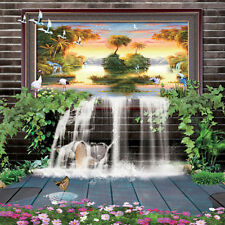FINA large mural living room TV background 3D three-dimensional mural
