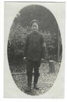 Foto, Soldat in Uniform, Mütze, Porträt