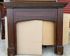 English Mahogany Carved Fireplace Surround Mantel Antique Tudor Historical