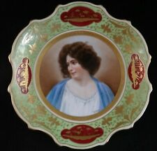 """Antique Royal Vienna 10"""" Portrait Plate. Beehive Mark. Late 19th c. 1 ½"""" t"""