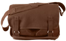 Brown School Bag Shoulder Strap European Style Pack Canvas Rothco 8918
