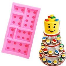 LEGO BRICKS BOY Festa Di Compleanno Stampo in Silicone Torta Stampo Fondente Decorazione Torte