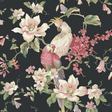 Elegant Floral & Birds Black Wallpaper Double Roll Bolts FREE SHIPPING
