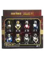 Hot Toys Iron Man 3 Deluxe Bust Set Of 8 Collectible 1/6 Scale Exclusive New