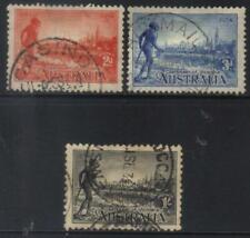 AUSTRALIA 1934 CENTENARY OF VICTORIA USED SET OF 3 CAT £28+