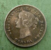 1899 Canada Small Five 5 Cents 925 Sterling Silver Canadian   # CN5