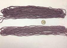 Vintage Micro Seed Beads- 11/0 Opaque Mauve Purple- Big 9.4 gram hanks
