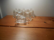 Clear Starlight Votive Cups Lot of 6 Homco Home Interiors