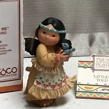 "Friends of the Feather ""Little Bird Told Me� Enesco 1994 New Nib Indian Figure"