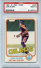 1981 O-PEE-CHEE HOCKEY #107 JARI KURRI R/C PSA 9 MINT NQ WEIGHT 9X IN SET