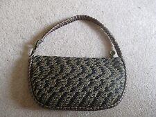 Eric Javits Luxury Designer Womans Handbag Black/Gold Squishee