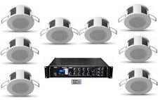 Sistema filodiffusione kit audio 8 diffusori da incasso amplificatore Radio