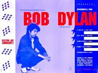 BOB DYLAN 1990 NORTHERN ILLINOIS UNIVERSITY ELECTION DAY CONCERT POSTER / N MINT