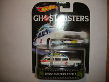 2016 HOT WHEELS RETRO TV SERIES GHOSTBUSTERS ECTO-1 WHITE FREE SHIPPING RARE NIP