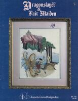 Jeanette Crews DRAGON SLAYER & FAIR MAIDEN Bk 83 for Counted Cross Stitch