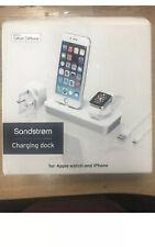 Sandstrom Apple iPhone & watch charging dock - White