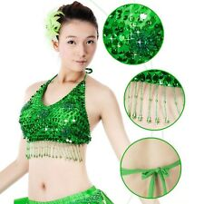 Belly Dance Costume Bead Sequins 5 Flowers Top Bra 11 Colors