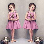 Sweet Baby Girls Kids Toddler Sleeveless Summer Princess Party Pageant Dresses