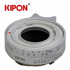 Kipon Adapter for Voigtlander Prominent Lens to Leica M Camera Silver Black