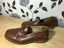 02cf8418fc4 TOMMY HILFIGER Para Hombre Zapato Mocasín Marrón De Cuero Size Uk 6.5 EU 40  Smart Casual