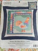 Candamar Designs Rainbow Hen Pillow / Picture Counted Cross Stitch Kit sealed