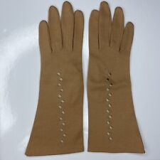 E Dr. Beyer & Co 100% Cotton West Germany Embroidered Vtg 50s 60s Evening Gloves