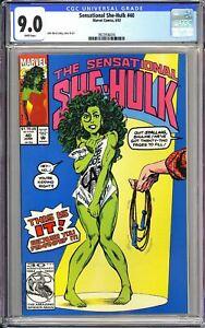 Sensational She-Hulk #40 CGC 9.0 3923936016 Nude Jump Rope Controversial MCU