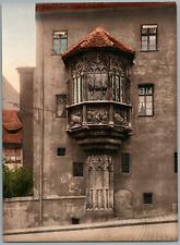 Nürnberg. Schöner Erker. PZ vintage photochromie, Deutschland photochromie, vi
