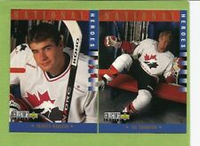 97-98 Collectors Choice National Heroes TEAM CANADA MENS 16 CARD LOT 296 TO 311