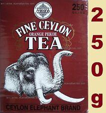 CEYLON TEA / MLESNA ORANGE PEKOE TEA - ELEPHANT BRAND 250g -FINE CEYLON BIG LEAF