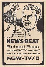 1966 KGW TV AD~RICHARD ROSS~ NEWS staff in PORTLAND OREGON~News Beat