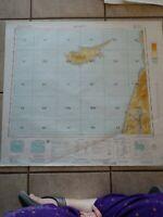 1967 Map of Cyprus Israel Lebanon Syria Jordan Beirut Haifa Tel Aviv
