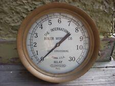 "Antique Large 10"" LONERGAN Brass Gauge Boiler Works Co Pennsylvania"