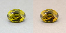 Alexandrite Untreated Ceylon Olive Green 2.88 Ct. Certified (00418)