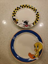 "Sylvester & Tweety BirdLooney Tunes Warner Bros. Gibson Plates 10"" set of 2"