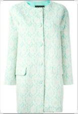 Boutique Moschino Formal Lace Overlay Coat Jacket Dress Green and Cream size 6